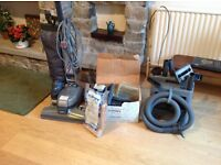 Kirby vacuum cleaner. Oldin full working order with carpet cleaning accessories regularly serviced