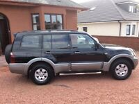 STUNNING 2004 Mitsubishi Shogun LWB, 7 seater, MOT June-19, DIESEL AUTOMATIC. Part Exchange Cons