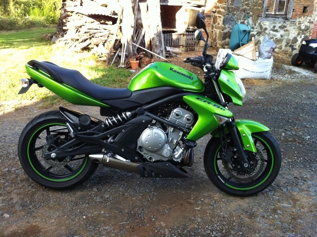 kawasaki er6n 2008 green in burnham on sea somerset gumtree. Black Bedroom Furniture Sets. Home Design Ideas