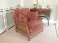 ERCOL BERGERE SETTEE and CHAIR
