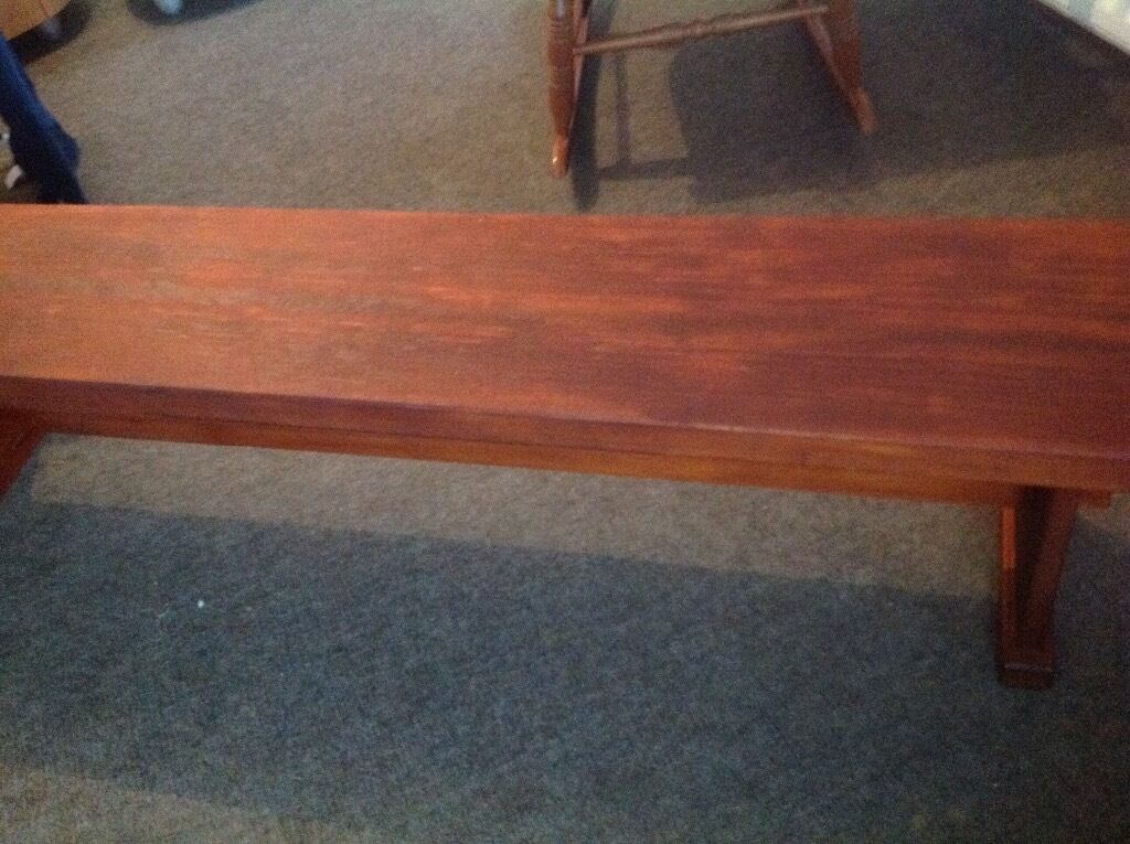Wooden Bench Cherrywoodin AberdeenshireGumtree - Beautiful stunning cherrywood bench for sale. Immaculate condition. 70 inches in length and 17 inches high. Ideal for vintage look or garden wear