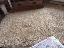 Laura Ashley Lockie Gold Deep Pile Gold Carpet