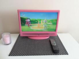 Pink LED TV/DVD COMBI