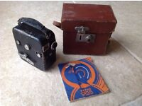 PATHESCOPE BABY CINE 9.5mm CAMERA WITH INSTRUCTIONS & CASE