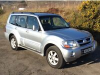 MITSUBISHI SHOGUN ELEGANCE LWB 3.5 GDI AUTO SILVER FULL BLACK LEATHER 1 OWNER 86,000 MILES F/S/H