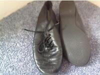 Black jazz shoes size 13