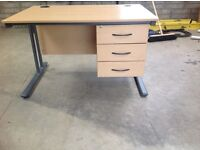 Desk perfect for home office or homework- with swivel chair