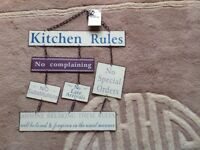 Kitchen Rules - metal sign