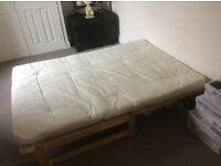 2 x comfy clean cream futons £30 each ONO