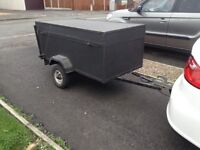 NICE SOLID CAMPING TRAILER WITH DETATCHABLE LID