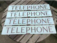 K6 Telephone box, kiosk, glass telephone signs