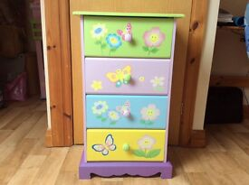 Liberty House Girls chest of drawers & revolving bookcase