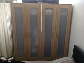 Ikea wardrobes x 2 with matching chest of drawers.