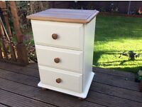 Painted Pine bedside drawers