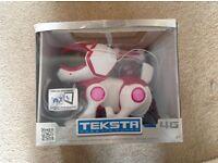 Teksta 4g interactive touch sensitive robotic puppy .toy dog pink