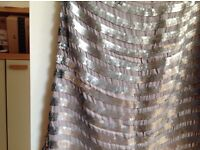 french connection silver sequined skirt size 6