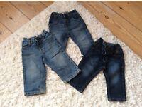 3x denim jeans 12-18 months excellent condition