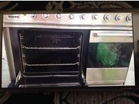 Stainless steel double oven gas top fan oven 5 rings good condition length 90cm