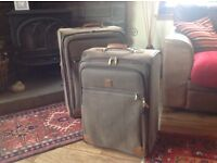 Suitcases x 2. Brown, leather look Tripp suitcases for sale, used condition