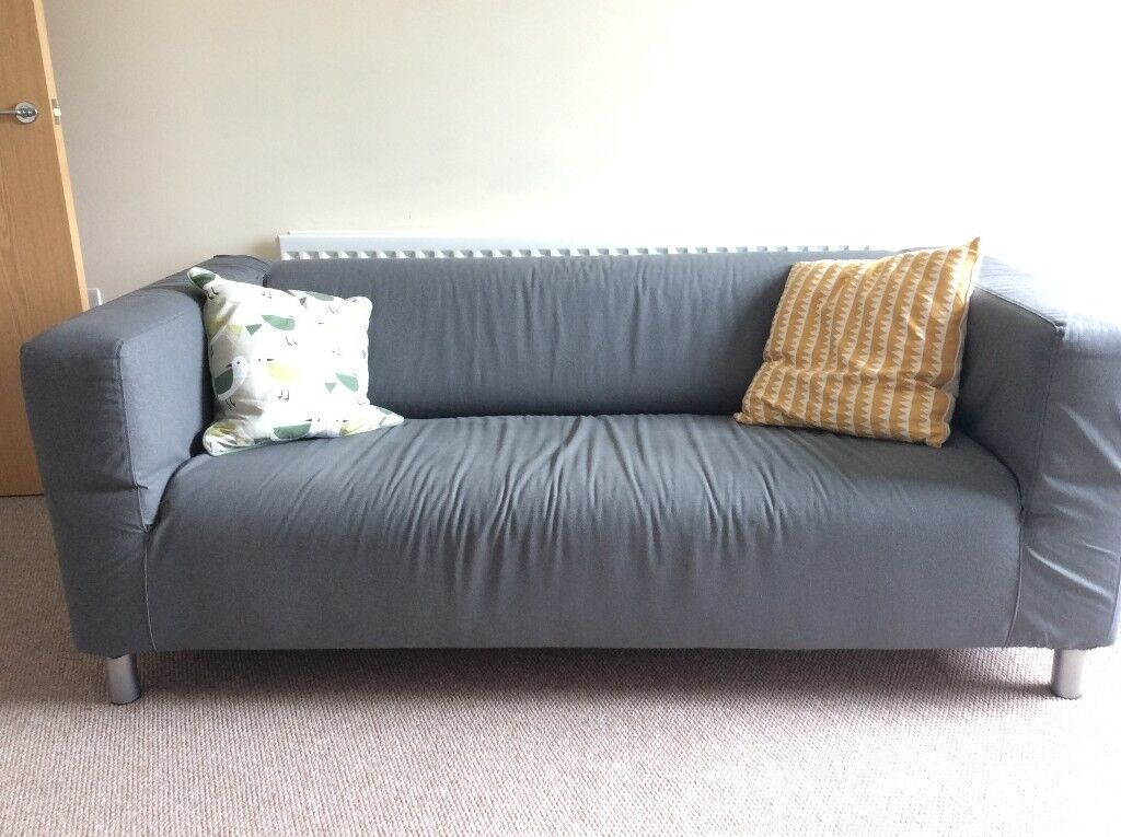 2 seat sofa ikea klippan with grey cover in saintfield. Black Bedroom Furniture Sets. Home Design Ideas