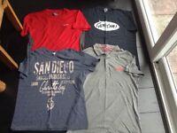 4 tshirts size L