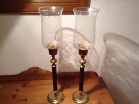 Pair of candle holders for sale