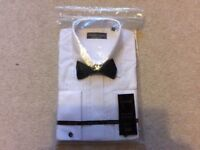 MENS SHIRT AND BOW TIE. STILL IN PACKET