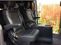 Mercedes Benz V class captain seat/table/ boot storage