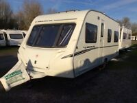 2007 Abbey Cardinal 495 4 berth touring caravan with fixed bed and loads of extras