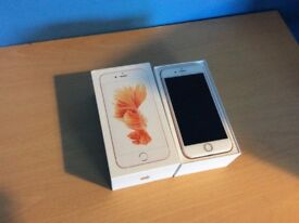 iPhone 6s Rose Gold 64GB on O2/GiffGaff Network Mint Condition + 1 FREE Case