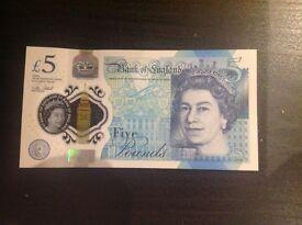 New Uncirculated £5 AA03