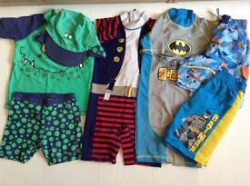 X5 pieces of boys age 3-4 swimwear