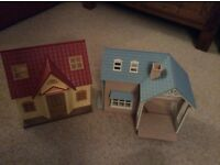 2 Sylvanian family houses
