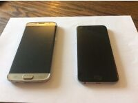 I phone 6 and Samsung s7 edge good condition for spares swop for I phone 6plus or 7 cash other way