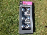 3 Pack of metal door knobs/handles