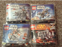 Star Wars Lego - Microfighters - 4 Sets