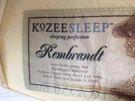 KOZEESLEEP Rembrandt Single organic cotton Mattress.