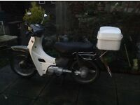 Yamaha Townmate T50 motorcycle