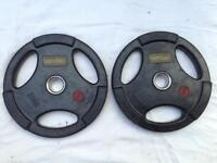 10 x 20kg Base Tri-Grip Rubber Olympic Weights