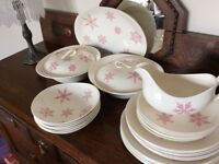 """Vintage """"Snow Crystals"""" design dinner service by Johnson Brothers"""