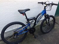 Boys bike, excellent condition. Recommend viewing. Black and blue. Make is rockface.