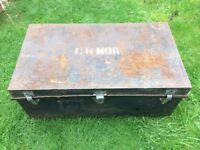 Old military chest is rusty ideal upcycle project.