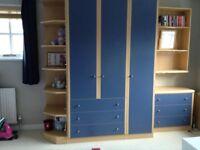 Hygena Wardrobe/drawers/shelves set