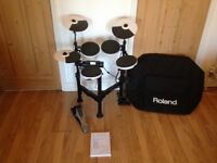 Roland TD-4KP compact V-Drums with custom carry case