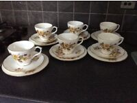 Set of 6 Duchess susie Bone China cups saucers and plates
