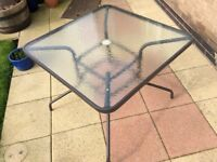 Garden Table -Metal/Glass