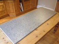 28mm Grey Granite effect laminated Kitchen worktop. L = 1540, D = 600...as new... REDUCED TO £15.