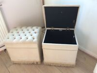 Upholstered storage Boxes