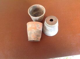 Vintage terracotta/clay plant pots good used condition