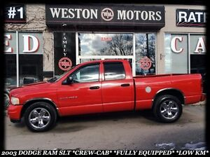 2003 Dodge Ram 1500 SLT *CREW CAB *FULLY EQUIPPED *LOW KM